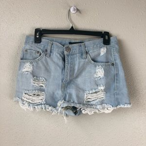 Aeropostale Cheeky Short Denim Shorts Size 6
